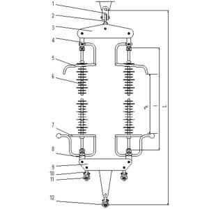 Lanturi de izolatoare (LI) tip BS, 400 kV