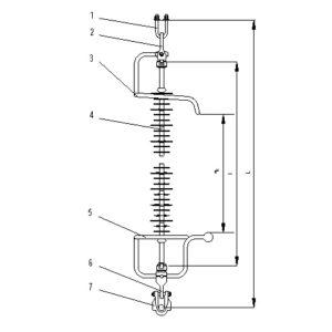 Lanturi de izolatoare (LI) tip BS, 220 kV