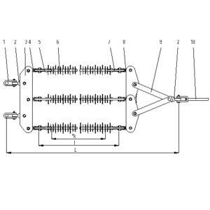 Lanturi de izolatoare (LI) tip BS, 110 kV